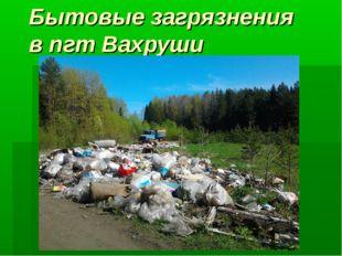 Бытовые загрязнения в пгт Вахруши