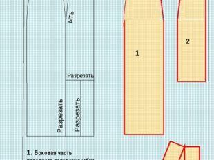 Моделирование юбки с воланом (модель3) Разрезать ыть Разрезать Разрезать 1 2