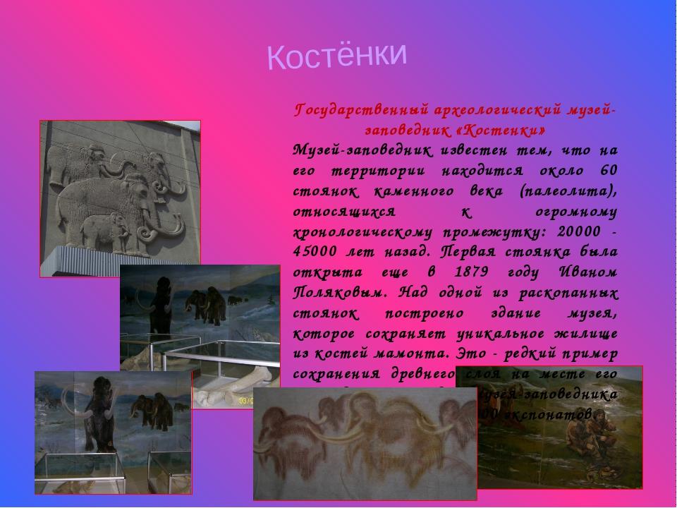 Костёнки Государственный археологический музей-заповедник «Костенки» Музей-за...