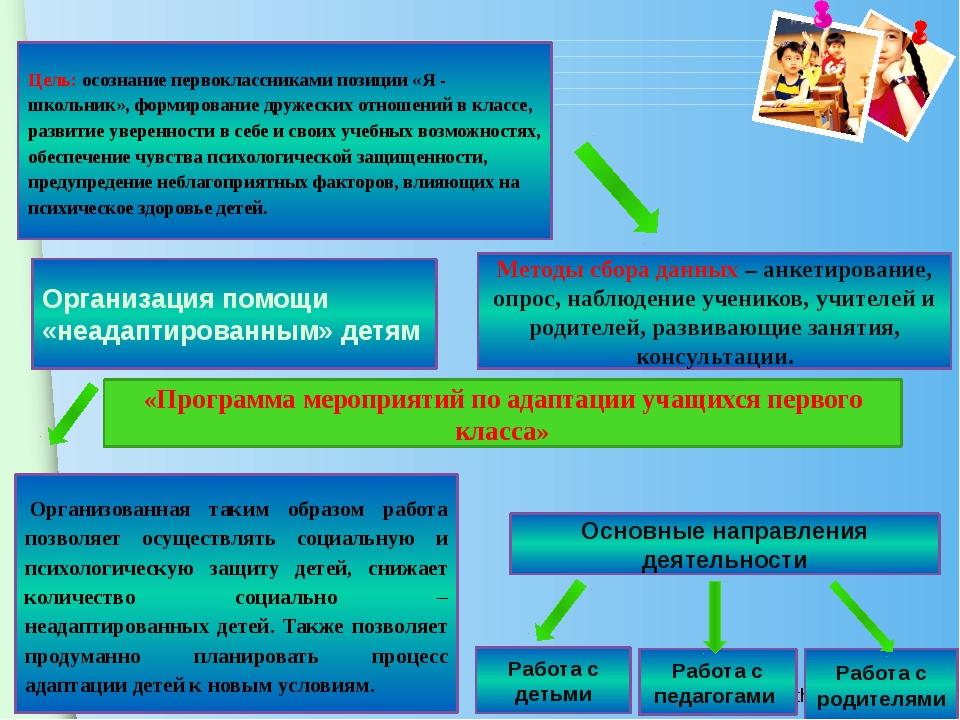 Организованная таким образом работа позволяет осуществлять социальную и пси...