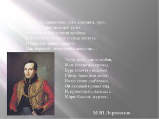 Средь гор кавказских есть, слыхал я, грот, Откуда Терек молодой течет, О скал