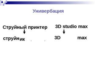 Универбация Струйный принтер струйный принтер ик 3D studio max 3D studio max