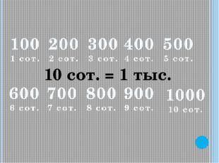 100 1 сот. 200 2 сот. 300 3 сот. 400 4 сот. 500 5 сот. 600 6 сот. 700 7 сот.