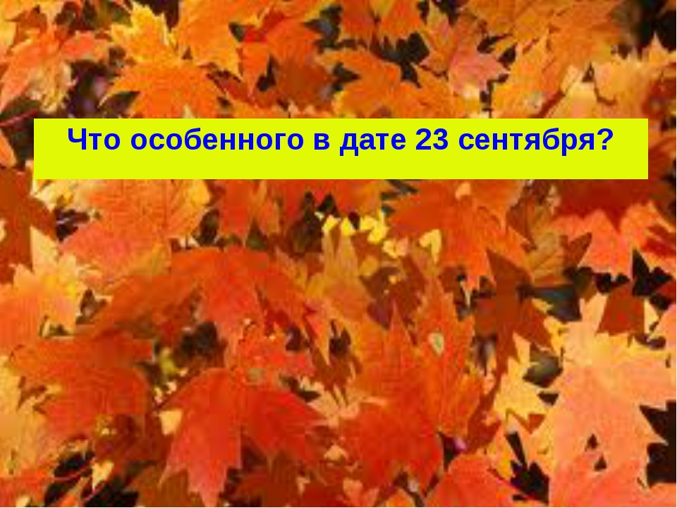 Что особенного в дате 23 сентября?