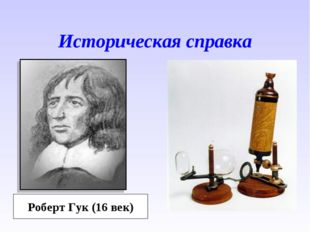 Историческая справка Роберт Гук (16 век)