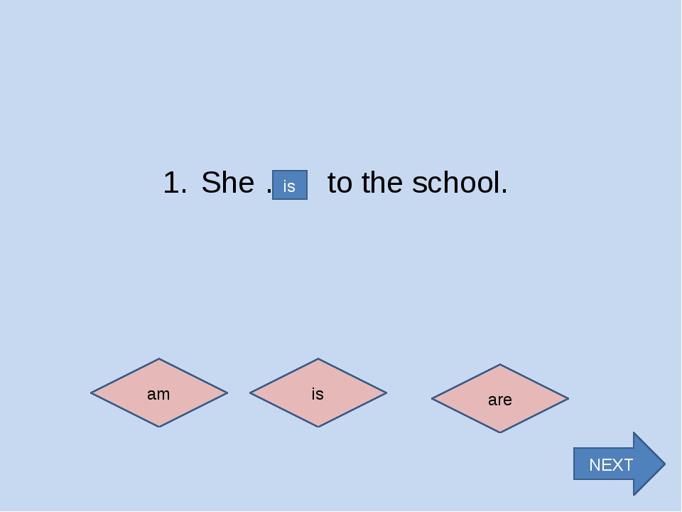 6. We … in Grade 5. am is are are NEXT