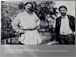 А.М. Горький и А.П. Чехов в саду ялтинского дома Чехова. 1900г. В беседе с А