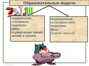 Традиционная «Знаниевая» педагогика Цель: Формирование знаний, умений и навык