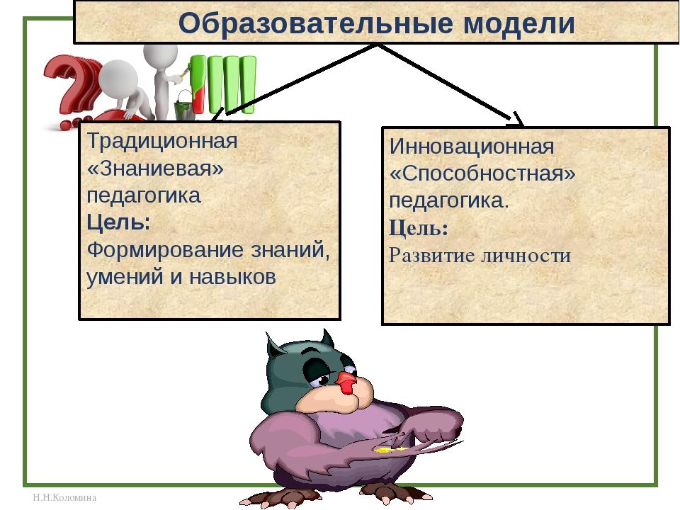 Традиционная «Знаниевая» педагогика Цель: Формирование знаний, умений и навык...