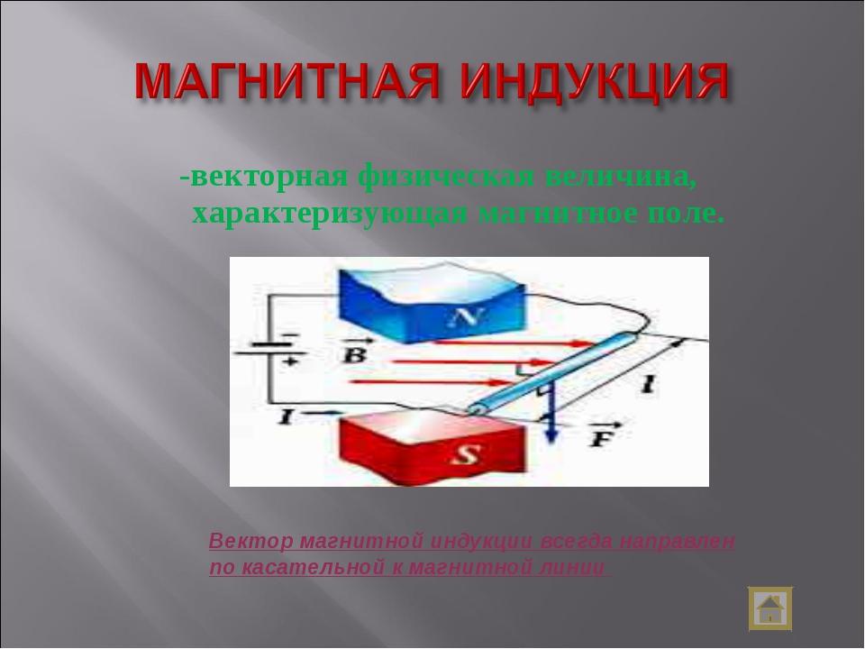-векторная физическая величина, характеризующая магнитное поле. Вектор магнит...