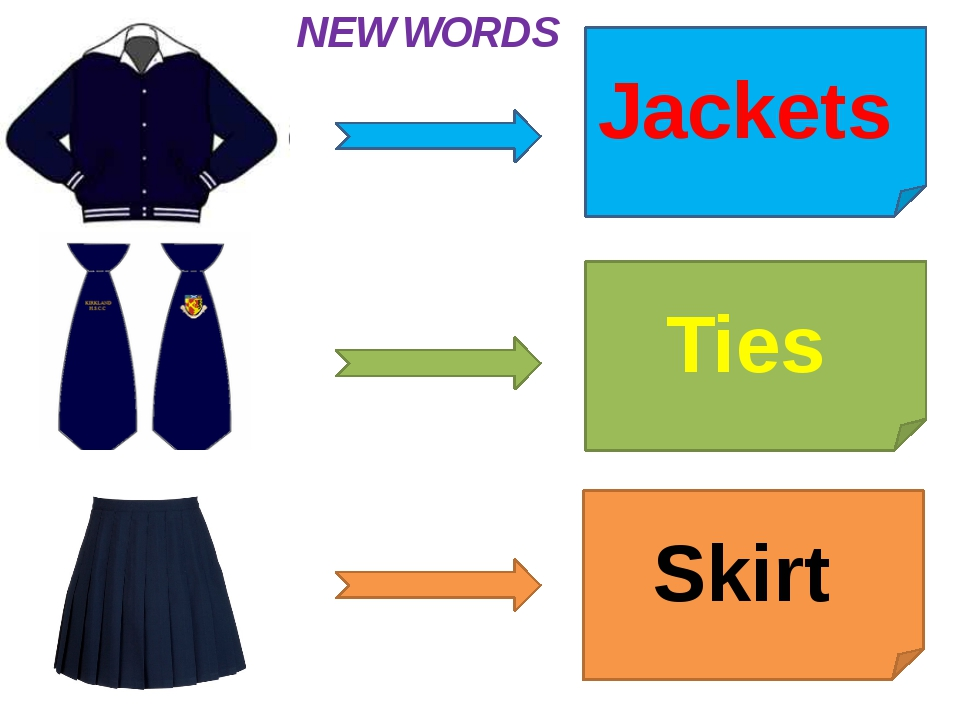 Jackets Ties Skirt NEW WORDS