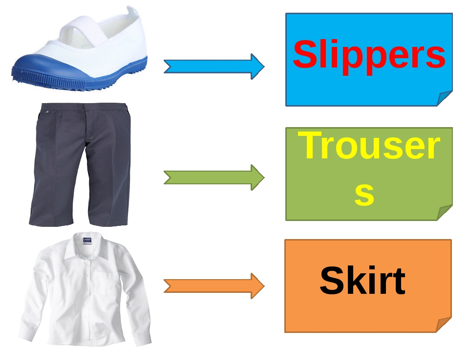 Slippers Trousers Skirt
