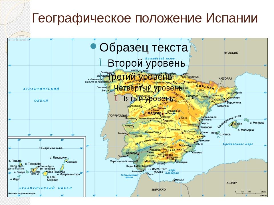 Географическое положение Испании
