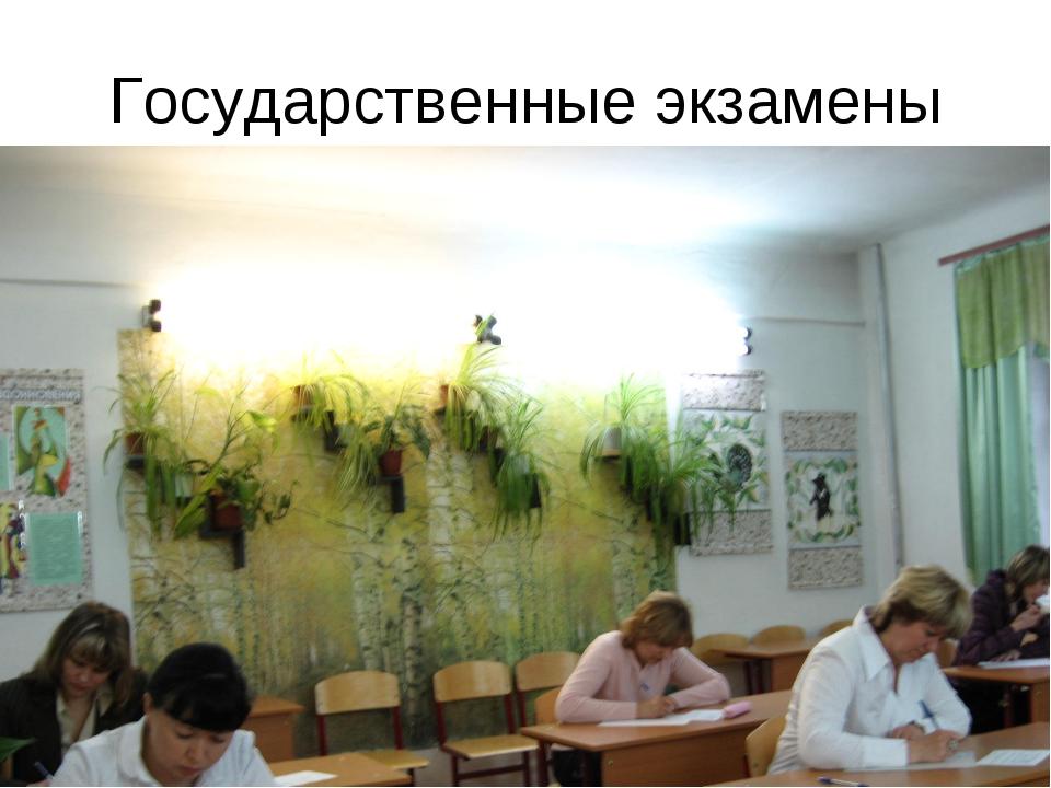 Государственные экзамены