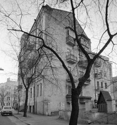 Дом на Рейтарской улице в Киеве, где в 1913 - 1917 г. г. жил Михаил Булгаков и его жена Татьяна Лаппа
