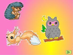 der Igel das Eichhörnchen die Eule