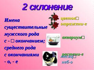 2 склонение Имена существительные мужского рода с - □ окончанием; среднего ро