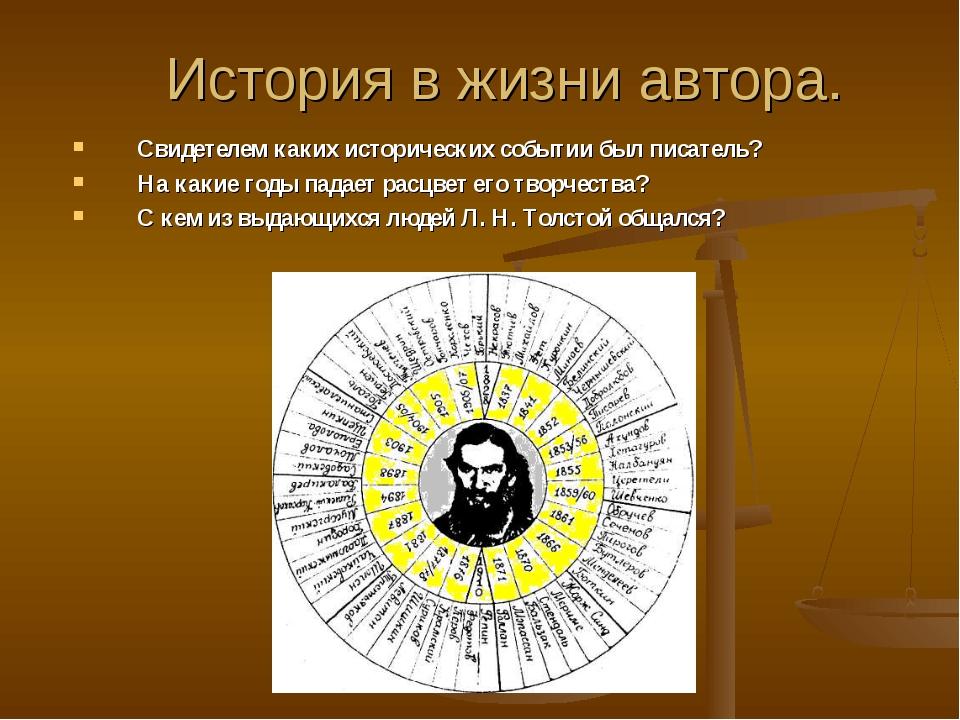 История в жизни автора. Свидетелем каких исторических событии был писатель? Н...