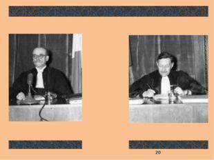 От Франции в состав трибунала вошли Анри Доннедье де Вабр Роберт Фалько