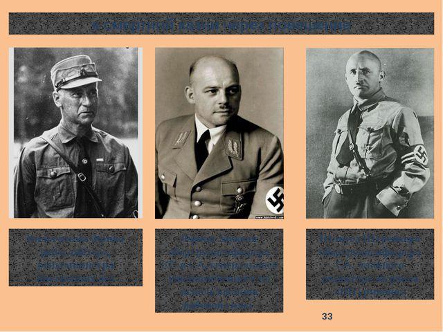 к смертной казни через повешение Вильгельма Фрика рейхсляйтера, рейхсминистра...
