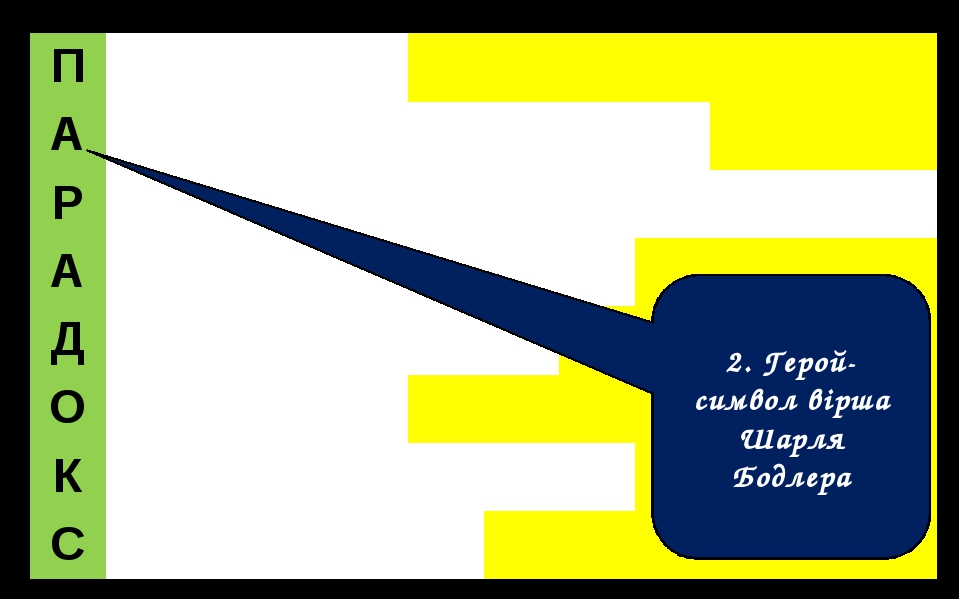 2. Герой-символ вірша Шарля Бодлера П А Р А Д О К С