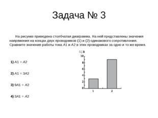 Задача № 3 На рисунке приведена столбчатая диаграмма. На ней представлены зна