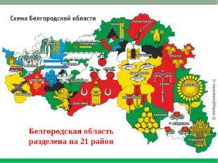 Белгородская область разделена на 21 район