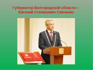 Губернатор Белгородской области – Евгений Степанович Савченко