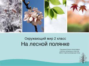 Окружающий мир 2 класс На лесной полянке Пушмина Елена Алексеевна учитель нач