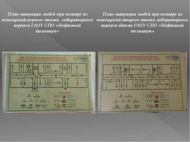 План эвакуации людей при пожаре из помещений первого этажа лабораторного корп...