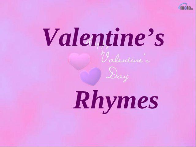 Valentine's Rhymes