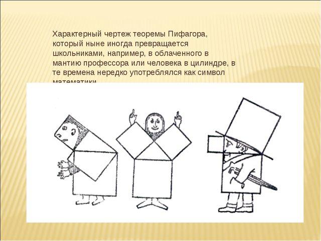 Характерный чертеж теоремы Пифагора, который ныне иногда превращается школьни...
