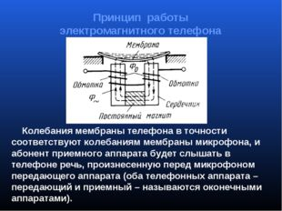 Колебания мембраны телефона в точности соответствуют колебаниям мембраны мик