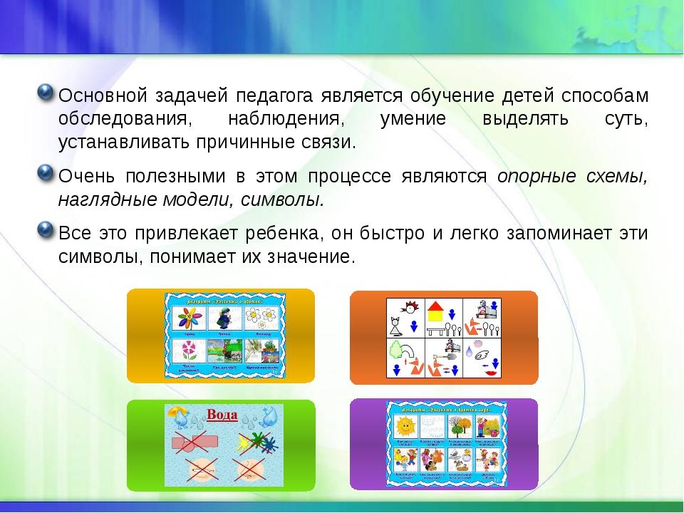 Основной задачей педагога является обучение детей способам обследования, набл...