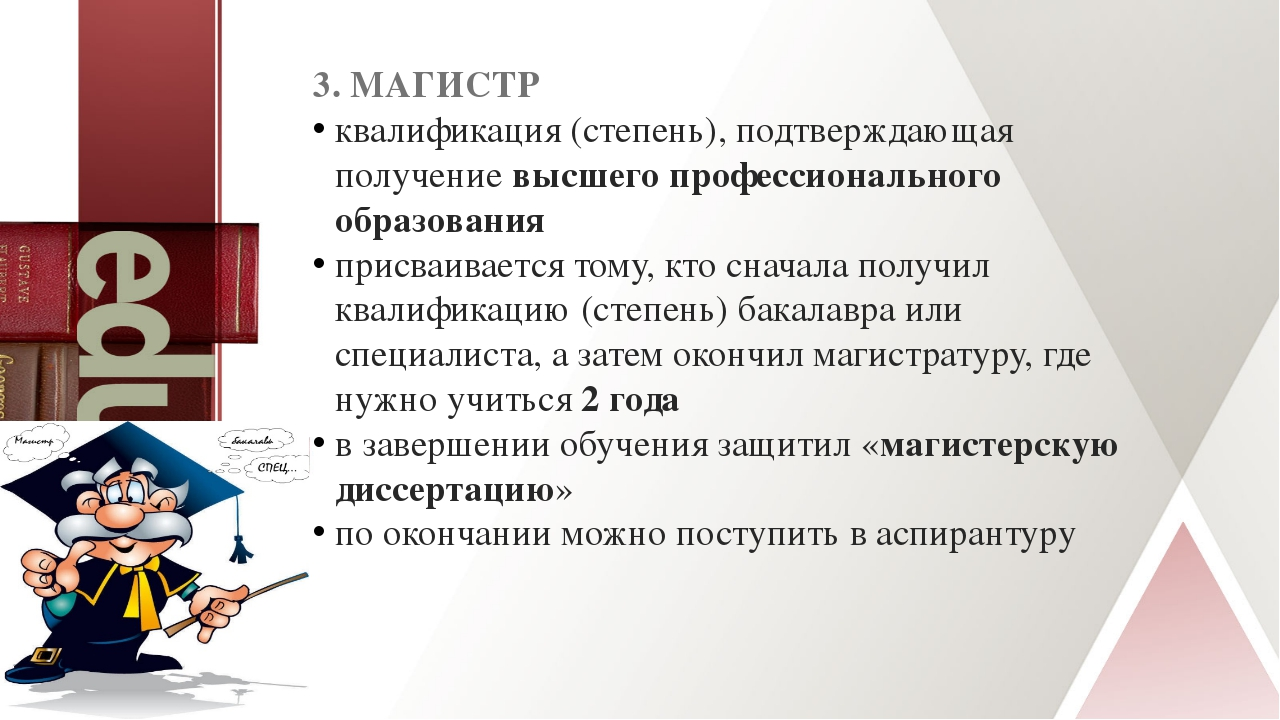 3. МАГИСТР квалификация (степень), подтверждающая получениевысшего профессио...