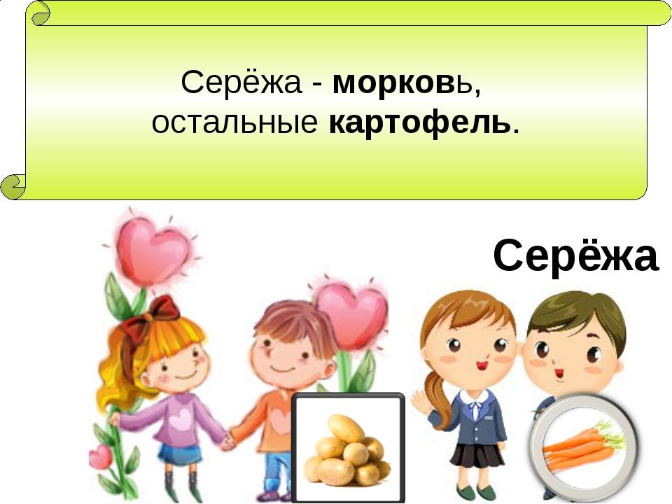 Серёжа - морковь, остальные картофель. Серёжа