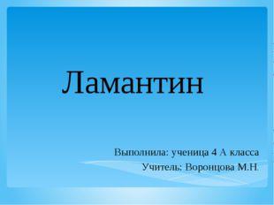 Ламантин Выполнила: ученица 4 А класса Учитель: Воронцова М.Н.