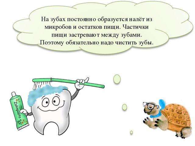 На зубах постоянно образуется налёт из микробов и остатков пищи. Частички пи...