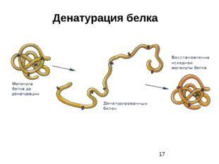 Денатурация белка