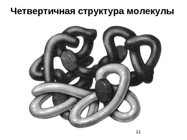 Четвертичная структура молекулы