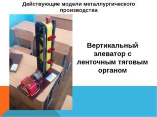 Действующие модели металлургического производства Вертикальный элеватор с лен