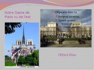 Notre Dame de Paris vu de l'est l'Hôtel-Dieu
