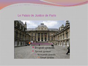 LePalais de JusticedeParis