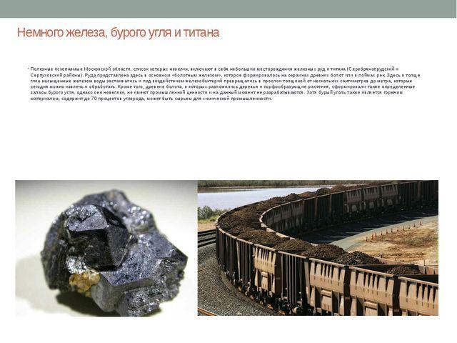 Немного железа, бурого угля и титана Полезные ископаемые Московской области,...
