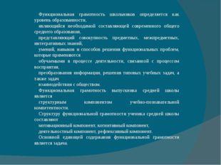 Функциональная грамотность школьников определяется как уровень образованности