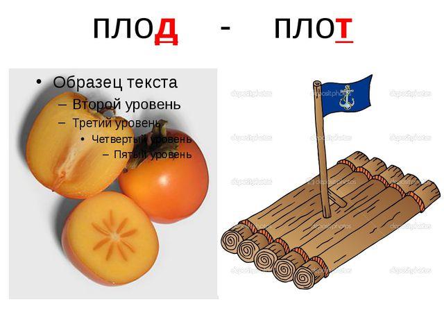 плод - плот