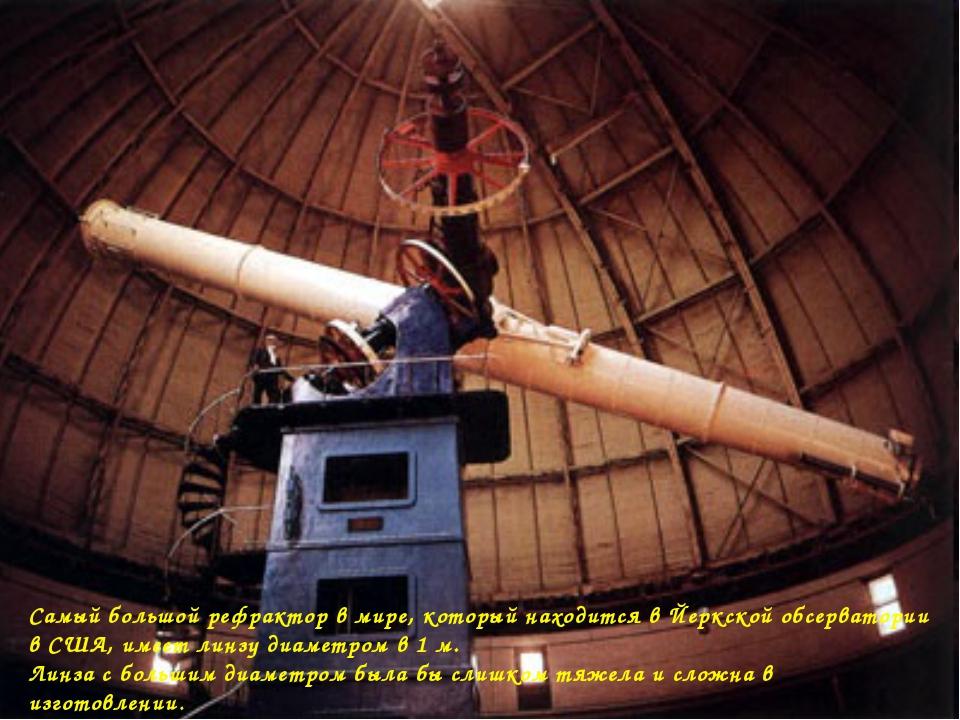 Самый большой рефрактор в мире, который находится в Йеркской обсерватории в С...