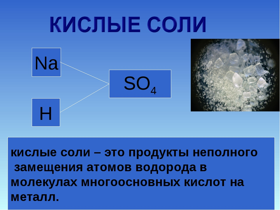 H H SO4 Na NaHSO4 Na+ + HSO4- кислые соли – это продукты неполного замещения...