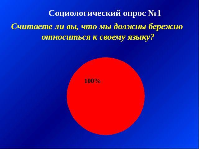 Социологический опрос №1 Считаете ли вы, что мы должны бережно относиться к с...