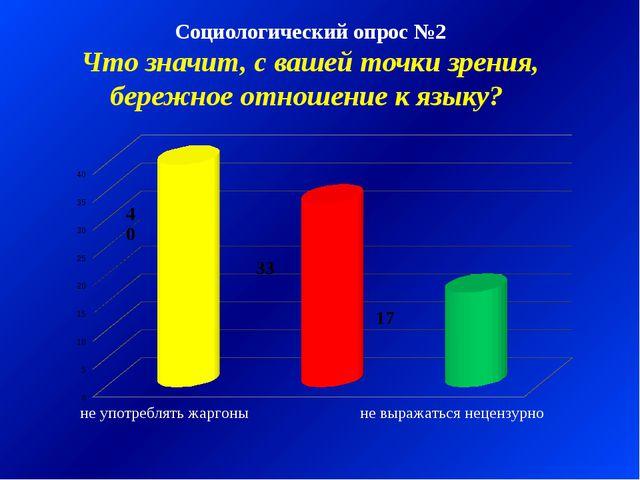 Социологический опрос №2 Что значит, с вашей точки зрения, бережное отношение...